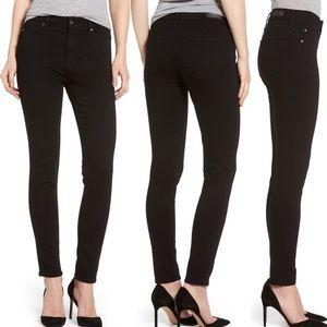 AG Farrah High Rise Skinny Jeans in Super Black